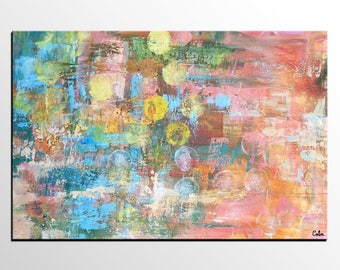 Abstract Art, Abstract Wall Art, Canvas Painting, Canvas Wall Art, Impasto Painting, Extra Large Art, Large Painting, Living Room Wall Decor