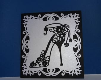 Shoe birthday card all in Pearl
