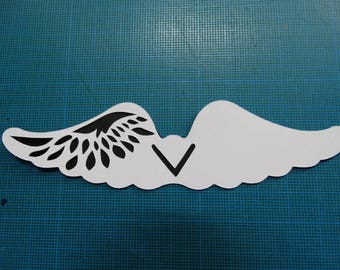 Mark up - themed angel wing lace dual color