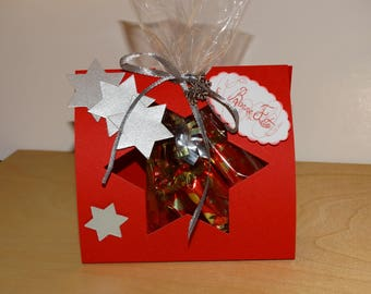 Pocket Christmas candy red and Silver Star