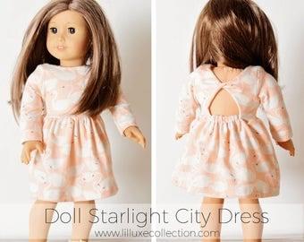 "Starlight City Dress 18"" American Doll Wellie Wisher Doll pattern"