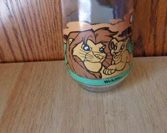Welch's Jelly Jar Juice Glasses Lion King Simba Disney Welch's Jelly Jar Collection