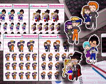 Chibi Anime Couple - Stickers - Die Cuts