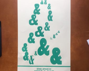 Limited Edition Letterpress Ampersand Print National Ampersand Day