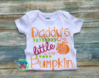 Daddy's pumpkin, Pumpkin bodysuit, Halloween bodysuit, baby first Halloween, first halloween, pumpkin shirt, pumpkin bodysuit little pumpkin