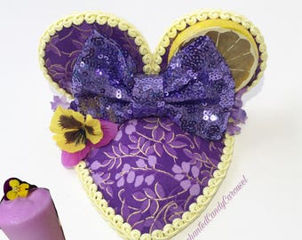 READY TO SHIP- Violet Lemonade Inspired Teardrop Mouse Ears Fascinator Hat
