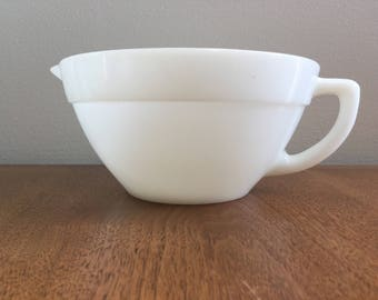 Fire King Milk Glass Batter Bowl Vintage
