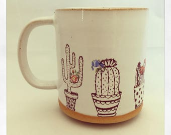 Succulents on the Window- Limited Edition Color Cactus Mug