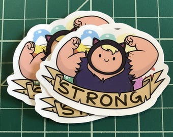 Susan Strong Adventure Time Sticker