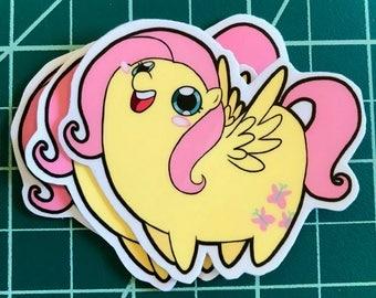 Chub Pony! Fluttershy Sticker