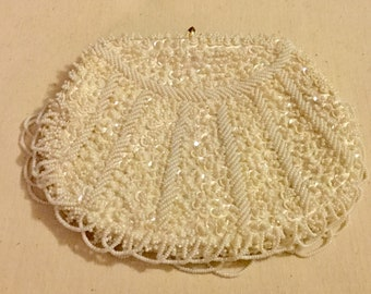 1950s Beaded Purse Clutch - Sequins - New Condition - La Regale, Made In Hong Kong
