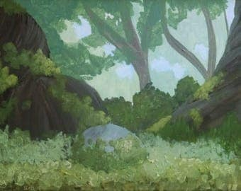 Forest canvas painting (Tangeled-inspired)