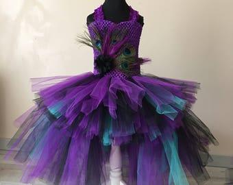 Robe tutu peacock 4,  6 years