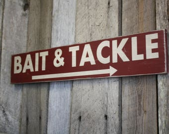 Bait and Tackle Sign, Bait and Tackle Decor, Bait and Tackle, Fishing Sign, Man Cave Sign