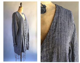 1990's Textured Linen Flax Jacket