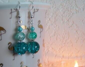 Green Blue earrings.