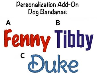 Monogram Add on - Personalized Dog Bandana - Pet Scarf - Dog Bandanna Monogram Add on