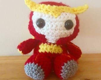 Crocheted Rodimus Plushie