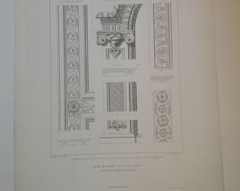 Set of 3 engraving prints Louis XlV  1862