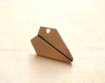 Great charm silver-plated 31x22mm Origami plane