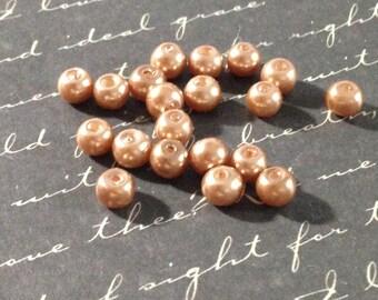25 round pearls 4mm acrylic