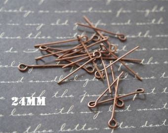 20 nails copper 24mm metal eyelet
