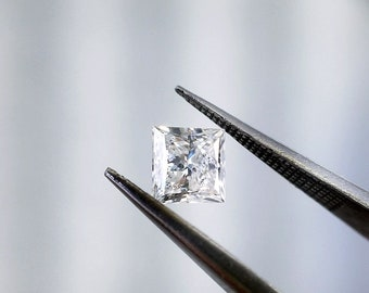 14K Gold 1.04 ct Princess Cut Diamond Solitaire Engagement Ring H I1