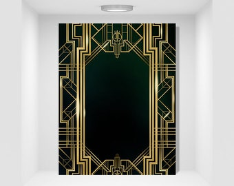 Great Gatsby Background Digital Flyer & PSD 8.5x11inches
