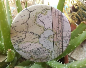 Cool map travel button pin