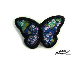 Japanese fabric butterfly Ring