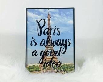 Paris is always a good ideas framed work !