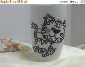 BIG SALE 50% OFF Tabby Cat Mug , coffee , tea , birthday gift , teens , cat lover , cat lady , cup .