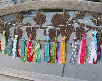 Polka Dot Fabric Tassel Garland Banner