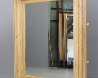 Large Square Pine Mirror