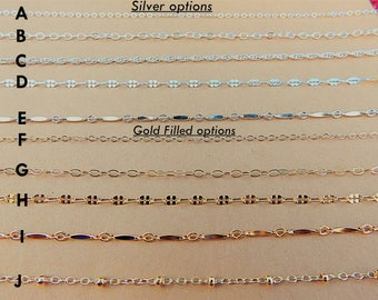 Silver Choker Chain Necklace Sterling Silver Necklace Delicate Chain Sterling Silver Layering Necklace Simple Thin Silver Chain