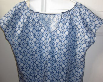 woman blouse in cotton voile