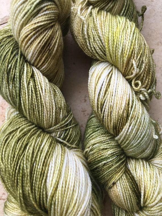 Hand Dyed Yarn,Corn Silk Yarn,Fingering Weight,2 ply,80/20 Superwash Merino,100 gram,indie dyed yarn,knit & crochet,Toad Hollow yarns