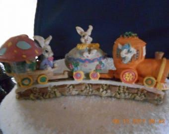 Ceramic Easter Bunny Train