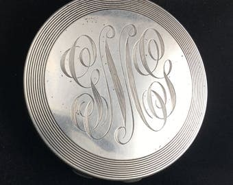Antique sterling silver compact