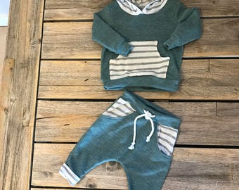 Heather Teal/green sweat outfit