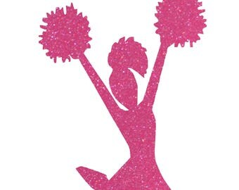 Cheerleader  ( Pink Glitter) Add your childs name for FREE