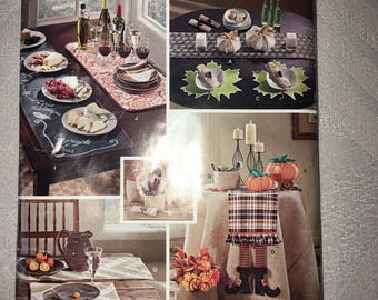 ON SALE Uncut 2014 Simplicity home decor #S 0630 stuffed pumpkins, fabric baskets, witch table runner - Autumn, Halloween, Thanksgiving