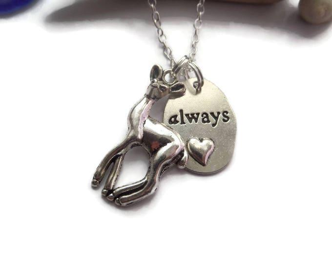 Deer necklace, Always necklace, wizard necklace, snape necklace, fandom gift, deer jewelery, always gift, wizard gift, sandykissesuk