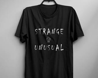 Halloween shirt t-shirt horror skull t shirt strange and unusual creepy gothic clothing goth clothes gift women graphic tee
