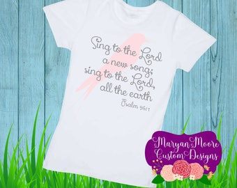Sing to the Lord Psalm with Bird Toddler Shirt Girls