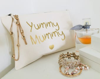 Yummy Mummy Make Up Bag : Gift For A New Mum - Customisable