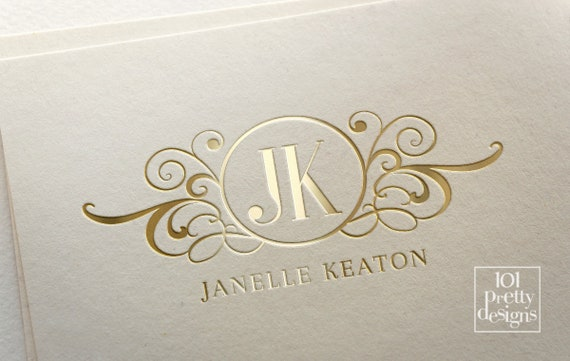 jewellery logo design elegant logo template monogram logo heraldic