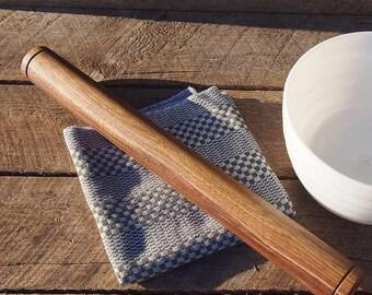 "Handmade rolling pin ""The Modern"" in black walnut wood – 20"" / 51 cm"