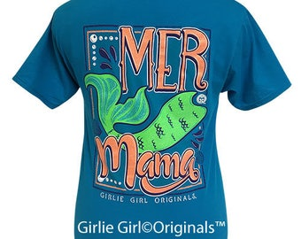 Girlie Girl Originals Mer Mama Pacific Blue Short Sleeve T-Shirt