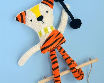 Tiger, Tiger softie, soft toy, stuffed toys, handmade tiger, lovely tiger, nursery decor